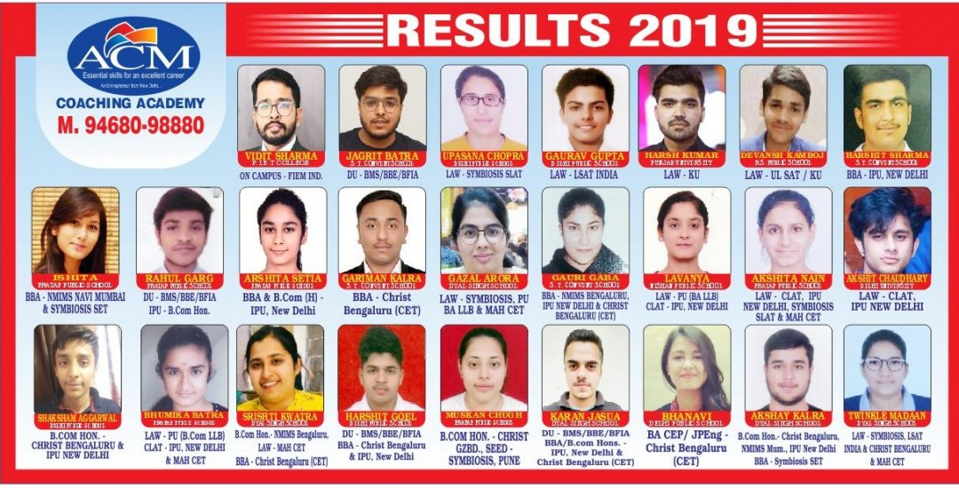ACM Results 2019